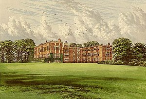 Temple Newsam - Temple Newsam House from Morris's Country Seats (1880)