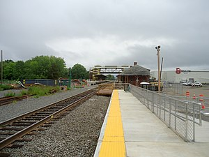 Berlin station (Connecticut) - Temporary platform opened in April 2016