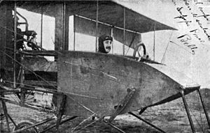 Alejandro Bello - Bello in his aircraft