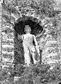 Terrasse et grotte de rocaille - Statue située dans une niche de la terrasse, Apollon - Juvisy-sur-Orge - Médiathèque de l'architecture et du patrimoine - APMH00023497.jpg