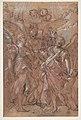The Archangels Gabriel, Michael and Raphael (recto); sketches of figures (verso) MET DP810984.jpg