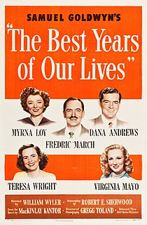 <i>The Best Years of Our Lives</i> 1946 American drama film directed by William Wyler