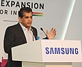 The CEO, NITI Aayog, Shri Amitabh Kant addressing at the foundation stone laying ceremony of the Samsung Plant Mega Expansion, in Noida, Uttar Pradesh on June 07, 2017.jpg