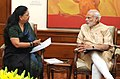 The Chief Minister of Rajasthan, Smt. Vasundhara Raje calling on the Prime Minister, Shri Narendra Modi, in New Delhi on October 27, 2015.jpg