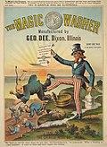 The Chinese Must Go - Magic Washer - 1886 anti-Chinese US cartoon.jpg