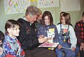 The Clintons read books to children at Tuzla Air Force Base in Bosnia - Flickr - The Central Intelligence Agency.jpg