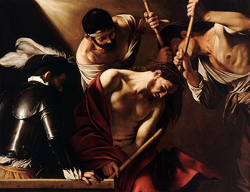 The Crowning with Thorns-Caravaggio (1602)