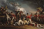 """Battle of Princeton"" by John Trumbull"