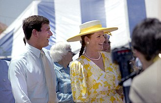 Sarah, Duchess of York - Andrew and Sarah in Townsville, 1988