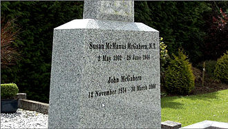John McGahern - The grave of John and his mother Susan