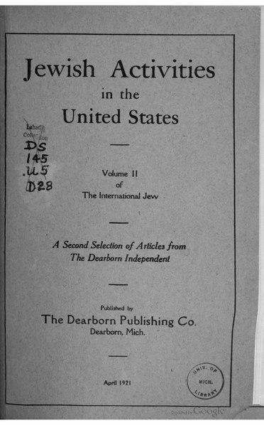 File:The International Jew - Volume 2.djvu
