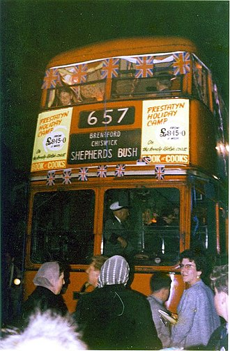 Trolleybuses in London - The last trolleybus on 8 May 1962