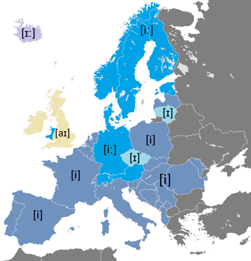 The Letter %22i%22 in Different European Languages