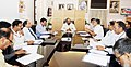 The Minister of State for Home Affairs, Shri Hansraj Gangaram Ahir chairing a review meeting with the senior officials on mobile connectivity issues in LWE areas, in New Delhi on April 25, 2018 (1).JPG