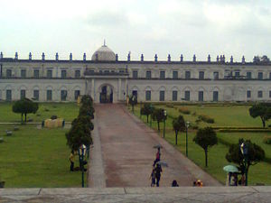 Mansur Ali Khan - The south face of the Nizamat Imambara as seen from the stairs of the Hazarduari Palace.