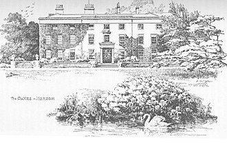 Oakes Park, Sheffield - A line drawing from the 19th century