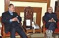 The Pakistan Foreign Minister, Mr. Khurshid Mehmood Kasuri meeting with opposition leader of Lok Sabha Shri L.K Advani, in New Delhi on February 21, 2007.jpg