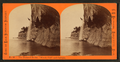 """The Pictured Rocks, """"Wreck Cliff"""" and cascade, by Childs, B. F..png"""