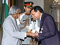 The President, Dr. A.P.J. Abdul Kalam presenting Padma Shri to Prof. (Dr) Kamal Kumar Sethi, renowned cardiologist, at investiture ceremony in New Delhi on March 29, 2006.jpg