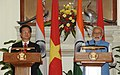 The Prime Minister, Shri Narendra Modi and the Prime Minister of Socialist Republic of Vietnam, Mr. Nguyen Tan Dung, at the joint press statements, in New Delhi on October 28, 2014.jpg