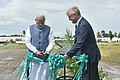 The Prime Minister, Shri Narendra Modi at the ground breaking ceremony for resilient rice field laboratory, at the International Rice Research Institute (IRRI), in Los Banos, Philippines on November 13, 2017 (4).jpg