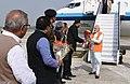 The Prime Minister, Shri Narendra Modi being received on his arrival at Varanasi, Uttar Pradesh on November 14, 2016.jpg