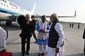 The Prime Minister, Shri Narendra Modi bids adieu to the Governor of Uttarakhand, Dr. K.K. Paul and the Chief Minister of Uttarakhand, Shri Trivendra Singh Rawat as he emplanes for Delhi from Dehradun, Uttarakhand.jpg