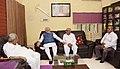 The Prime Minister, Shri Narendra Modi met Shri Keshubhai Patel at his residence and offered his condolences on the unfortunate demise of his son, Pravin Patel, in Gandhinagar, Gujarat on September 14, 2017 (1).jpg