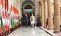 The Prime Minister, Shri Narendra Modi with the Prime Minister of Canada, Mr. Justin Trudeau, at Hyderabad House, in New Delhi on February 23, 2018.jpg