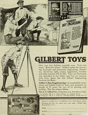 A. C. Gilbert Company - A.C. Gilbert ad in The Saturday Evening Post in 1920.