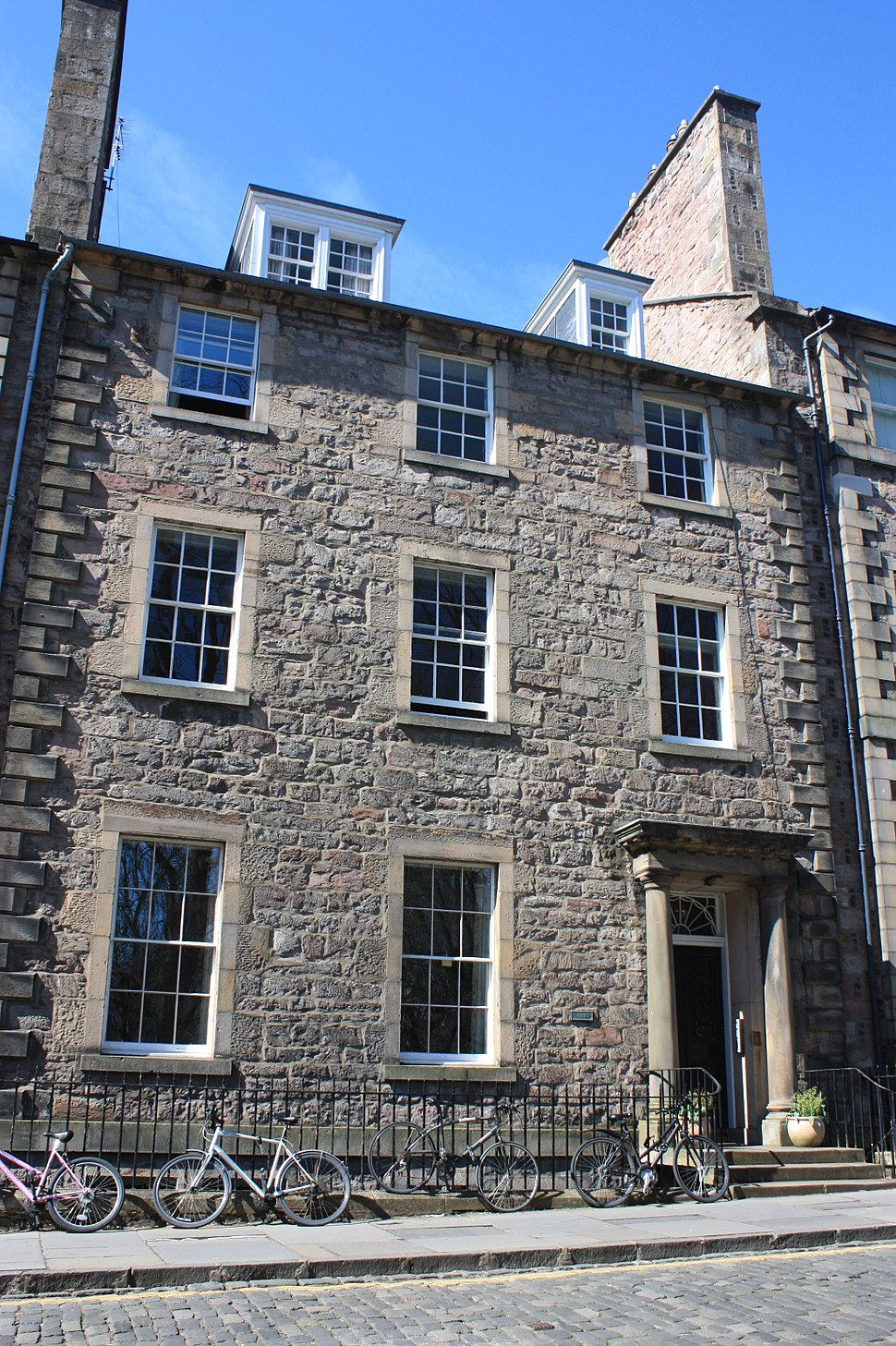 The Scott's family home in George Square, Edinburgh