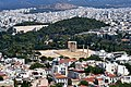 The Temple of Zeus, the Arch of Hadrian and the Panathenaic Stadium from the Acropolis on July 9, 2019.jpg
