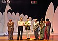 The Union Minister of State for Information and Broadcasting, Choudhury Mohan Jatua felicitated the Actor Prasenjit Chatterjee, during the closing ceremony of the 41st IFFI-2010, at Panaji, Goa on December 02, 2010.jpg