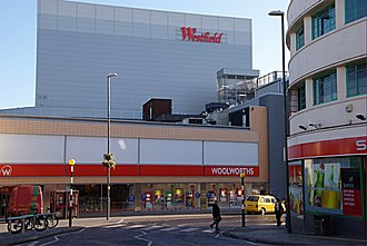 Intu Derby - View from near the 'spot', showing old branding