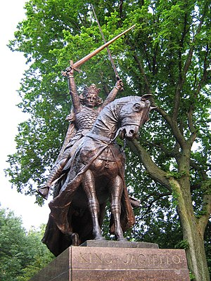 King Jagiello Monument - Image: The Wladyslaw Jagiello monument in NYC 7