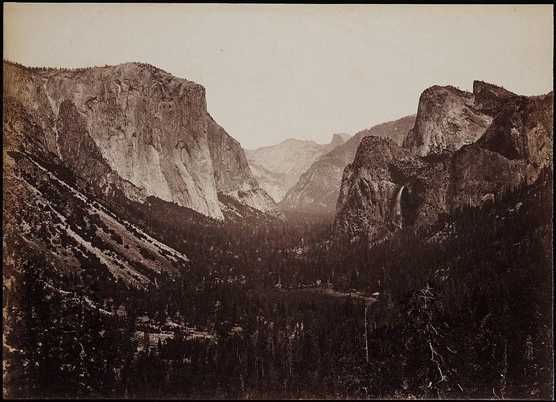 File:The Yosemite Valley From The Mariposa Trail Yosemite California by Carleton Watkins.jpg
