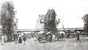 The entrance to the Nairobi Railway Station in 1899