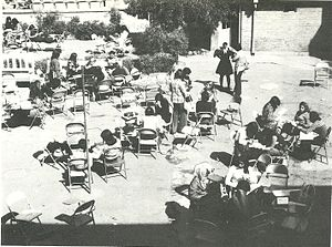 Iran Bethel School -  The former Iran Bethel courtyard in 1974