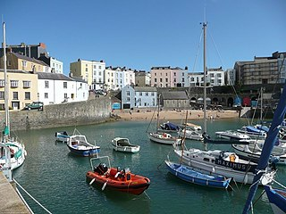 Tenby town in Wales