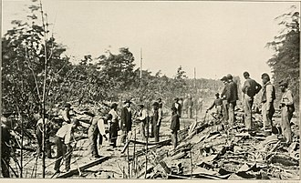 Orange and Alexandria Railroad - Repairing damage after a Confederate cavalry raid