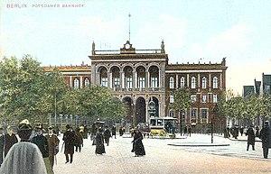 Berlin Potsdamer Bahnhof - The rebuilt Potsdamer Bahnhof - its new facade around 1900
