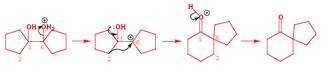 Spiro compound - The synthesis of a spiro-keto compound form a symmetrical diol