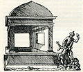 The tomb of Absalom at Cidro valley, Jerusalem Muslims throw stones at the monument - Thevet André - 1556.jpg