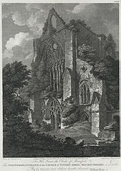 The west window of Tintern Abbey, Monmouthshire