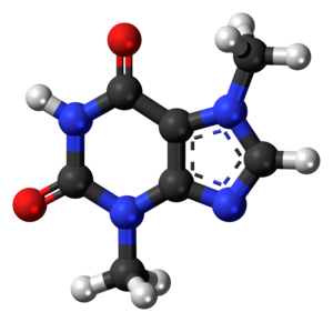 Theobromine - Image: Theobromine 3D ball