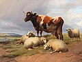 Thomas Sidney Cooper - Cattle and sheep in a meadow in a vast landscape.jpg