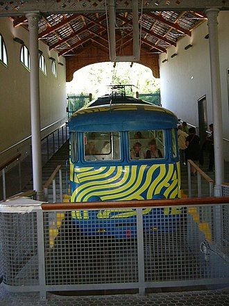 Tibidabo Funicular - Car of the Funicular