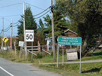 Timiskaming, Quebec - Image: Timiskaming FN