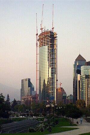 The construction of Titanium La Portada buildi...