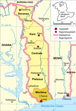 Maritime Region - Image: Togo karte politisch maritime